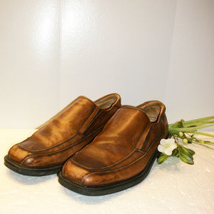 Dockers Men's 10.5 Distressed Brown Leather Shoes